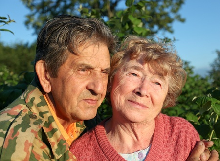 Beautiful elderly happy couple Stock Photo - 10501763