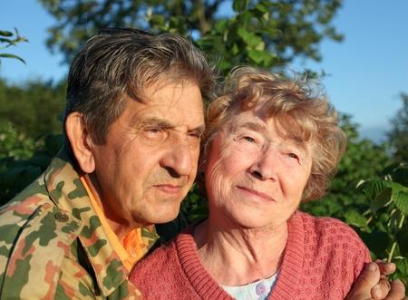 Beautiful elderly happy couple Stock Photo - 10501763
