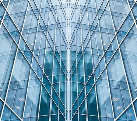 light blue glass texture of transparent skyscrapers photo