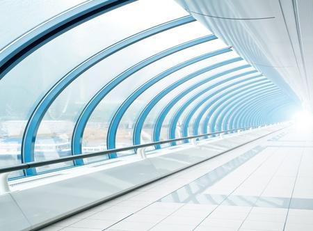 blau transparent Flur Standard-Bild