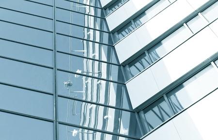 pane: blue pane of glass transparent skyscrapers