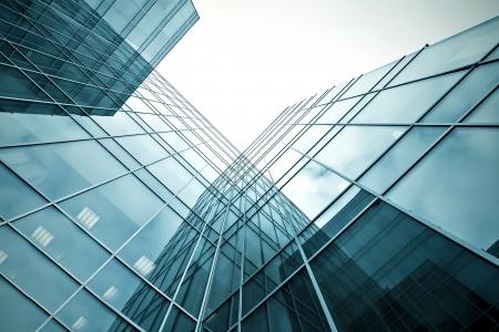 gladde textuur van glas hoogbouw