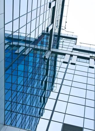 glass block: modern glass skyscraper buildings in the morning