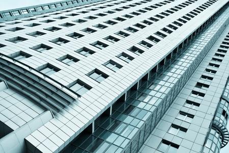 contemporary striped black texture of glass architecture photo
