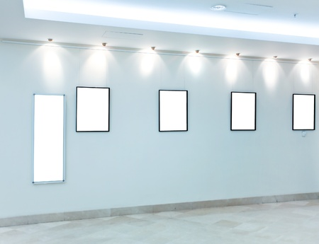 modern hall with empty placards Stock Photo - 10980581