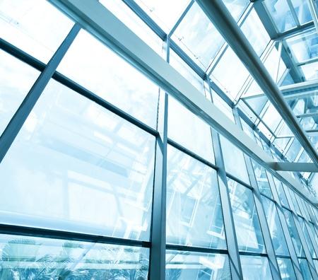 estructura: techo de vidrio contempor�neo Foto de archivo