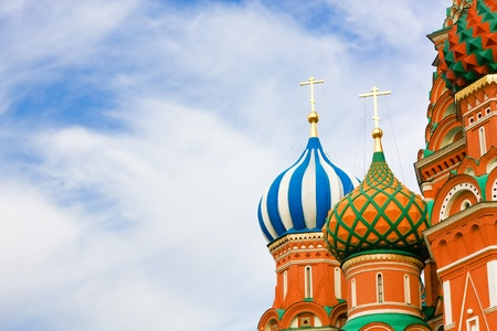 vasily: Domes of the famous Head of St. Basils Cathedral on Red square, Moscow, Russia