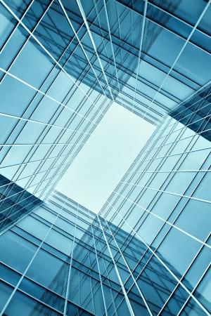 Glasgebäude perspektivische Ansicht