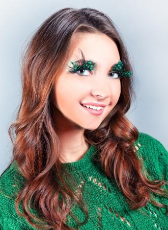 consternation: beautiful fashionable female face Stock Photo