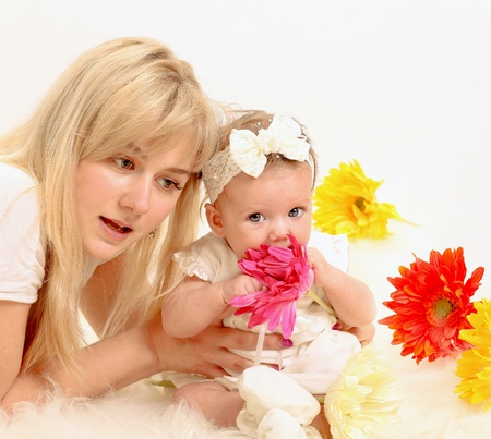 Happy mother with daughter Stock Photo - 17574949