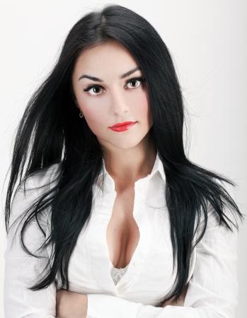 Portrait of sexy und zuversichtlich Geschäftsfrau Standard-Bild - 17574891