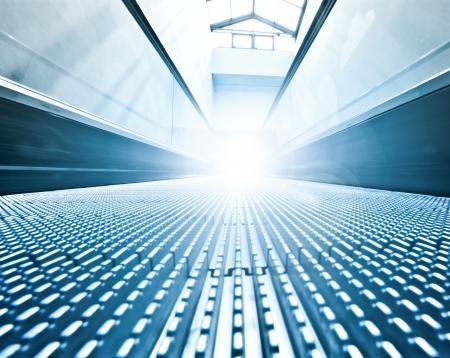 futuristic escalator inside contemporary airport Stock Photo - 17685880