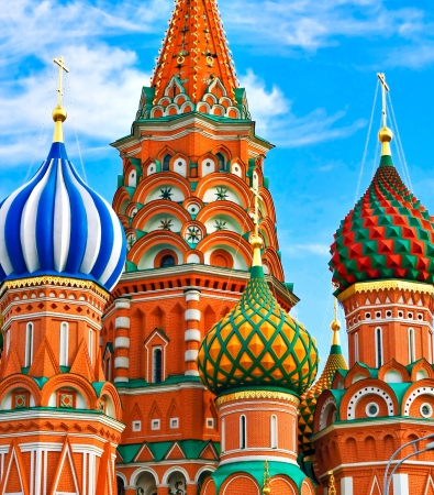 vasily: St. Basils Cathedral on Red square, Moscow, Russia Stock Photo