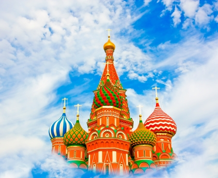 Cathedral of Vasily the Blessed in the Heaven photo