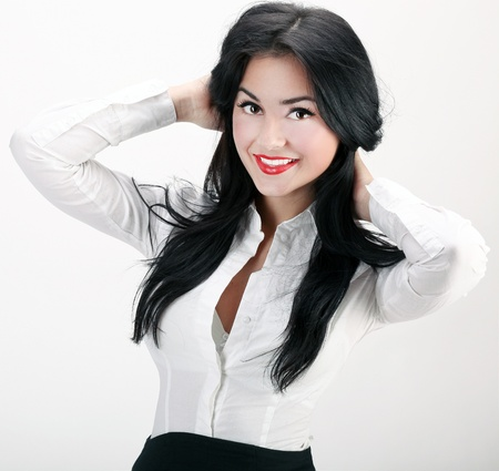 sexy business woman: Portrait of sexy and confident business woman
