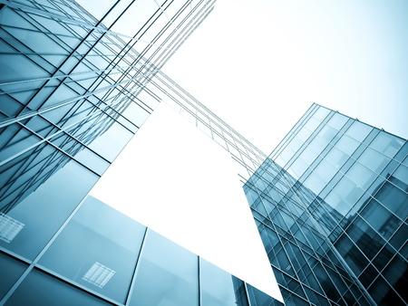 leere Plakatwand über gläserne Gebäude Textur