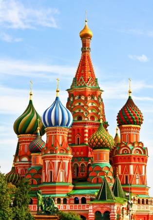Der berühmteste Ort in Moskau, Basilius-Kathedrale, Russland Standard-Bild - 19484382