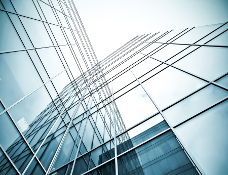 Unterseite Hinblick auf die Stahl-Glas-Hochhaus