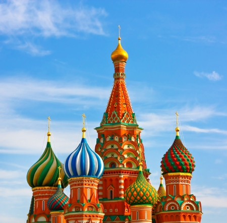The Most Famous Place In Moscow, Saint Basils Cathedral, Russia photo