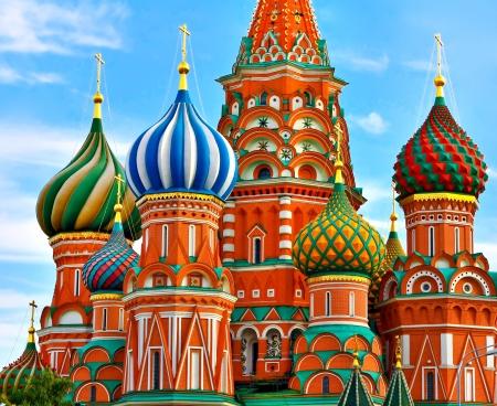 Der ber?hmteste Platz in Moskau, Sankt Basilius-Kathedrale, Russland Standard-Bild