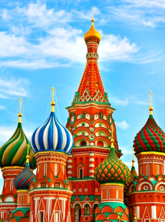 vasily: The Most Famous Place In Moscow, Saint Basils Cathedral, Russia Stock Photo