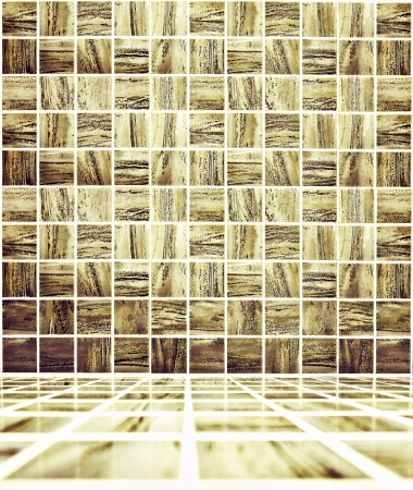 spacious: Background of Golden Mosaic Texture, spacious vintage room with stone and glass tiled grungy wall