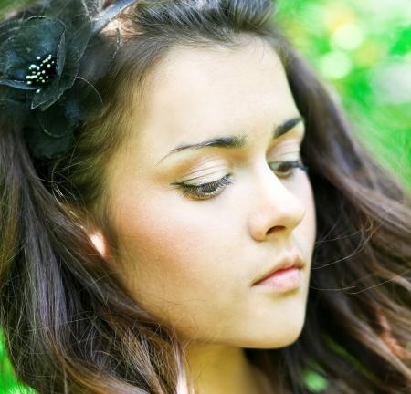 sorrowful: sorrowful beauty dreaming outdoor