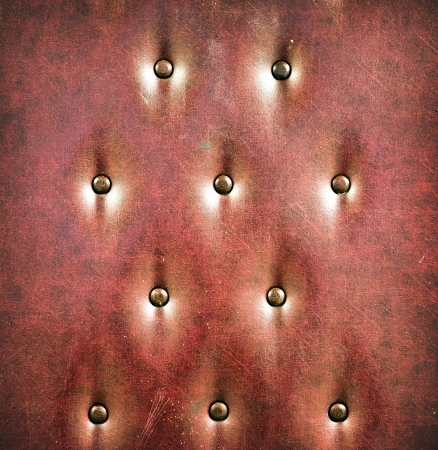 Luxury and grungy background of classic shabby brown texture in old door with metal buttons Stock Photo - 19502078