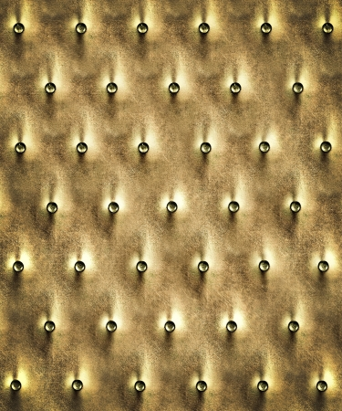 Luxury and grungy background of classic shabby yellow texture in the door with metal buttons Stock Photo - 19639168