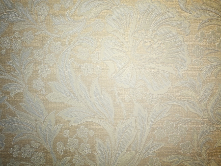 Background of an old wallpaper with messy and grungy warm brown retro flat texture photo