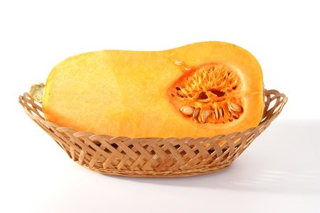 stillife: Stillife with a fresh pumpkin on white background