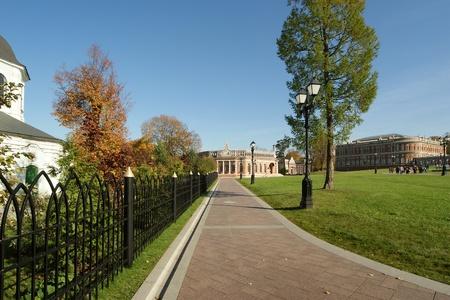 tsaritsino: Tsaritsino museum and reserve in Moscow. Reconstruction of the 18 th century