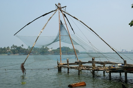 chinese fishing nets: Chinese fishing nets, Cochin, South India