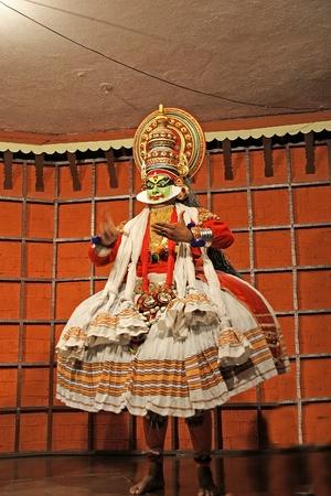 kathakali: Kathakali tradional dance actor. Kochi (Cochin), India
