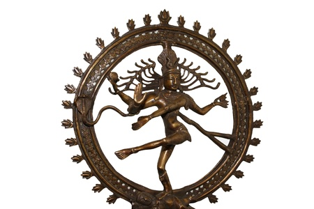 hindu god shiva: Indian hindu god Shiva Nataraja - Lord of Dance Statue isolated on white
