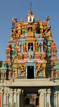 Traditional Hindu temple, South India, Kerala Stock Photo - 11339000