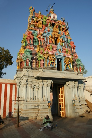Traditional Hindu temple, South India, Kerala photo