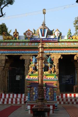 Traditional Hindu temple, South India, Kerala photo