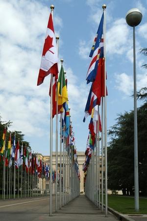 nazioni unite: Delle Nazioni Unite a Ginevra - Nazioni Unite a Ginevra - Veduta del palazzo delle Nazioni Unite a Ginevra
