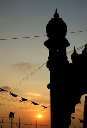 architectural feature: Muslim (Arab) Mosque, Kovalam, Kerala, South India