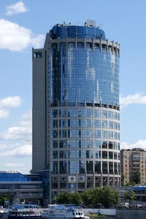 Tower 2000 International Business Center closeup, Moscow, Russia