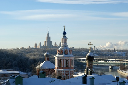 andrews: General view of the city of Moscow (University of St. Andrews monastery) from a viewing platform near the building of Presidium of Russian Academy of Sciences Editorial
