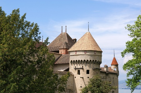 Switzerland - Chateau de Chillon on the lake Leman near Montreux