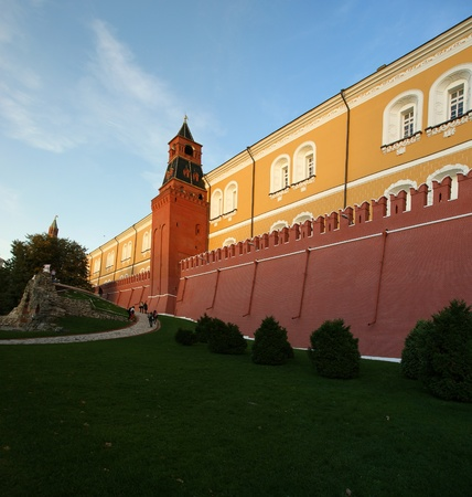 Detail of the Kremlin wall and towers, Moscow, Russia Stock Photo - 11328367