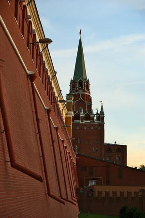 Detail of the Kremlin wall and towers, Moscow, Russia Stock Photo - 11330488