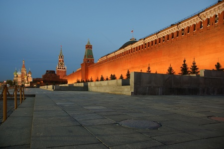 Red Square at night, Moscow, Russia photo