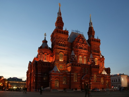 Red Square and the Historical Museum at night, Moscow, Russia Stock Photo - 11320043