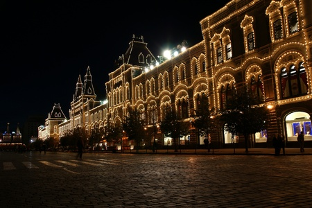 store GUM at night, Red Square, Moscow, Russian Federation Stock Photo - 11314410