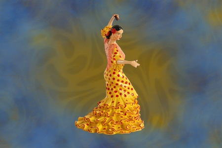 spanish ethnicity: figure of Spanish flamenco dancers
