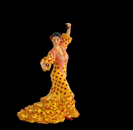 figure of Spanish flamenco dancers photo